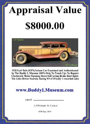 Free Toy Appraisals Buddy L Museum offering free antique toy appraisals, online toy appraisals & consultations Buying vintage toys Fre Vintage toy appraisal