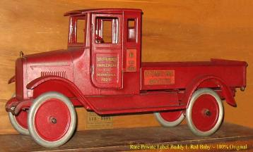 Buddy L Red Baby with Doors aka Buddy L International Harvester Truck Buddy L Toys waned for immediate purchase. Buddy L Museum buying vintage Buddy L, Keystone toys, Sturditoy trucks. Buying Vintage Toys Free Toy Appraisals
